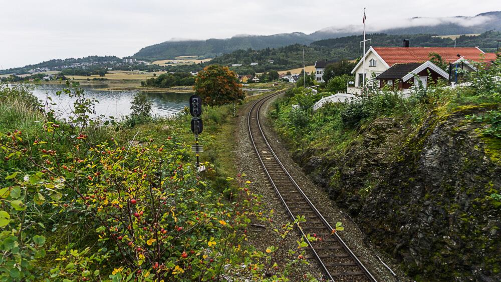A railway in the St Olavsleden area