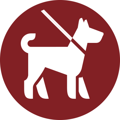 ikon kopplad hund