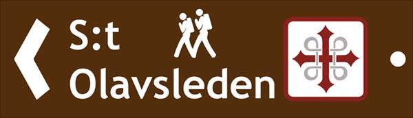 Hänvisningsskylt för vandrare