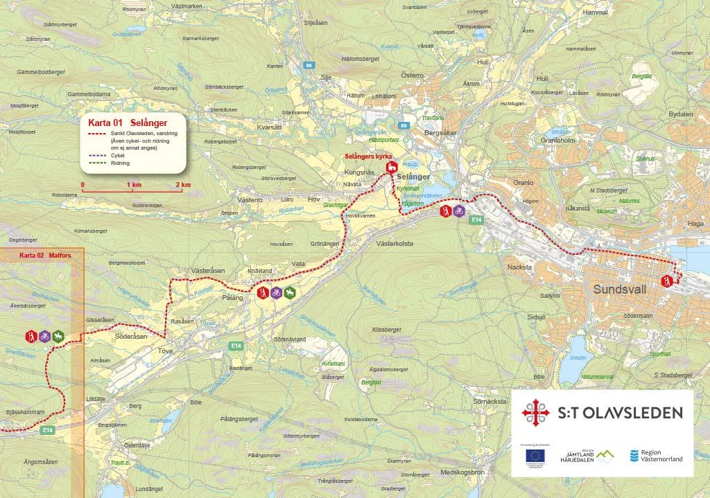 map over Selånger
